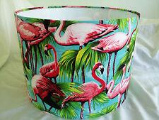 "14""/35 CM  .PINK FLAMINGO fabric lampshade..made in UK."