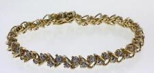 14k yellow gold diamond SI3 H tennis bracelet .78ct 14g vintage estate antique 7