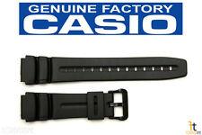 CASIO AD-300 Original 19mm Black Rubber Watch Band Strap AD-300B DW-290 DW-290G