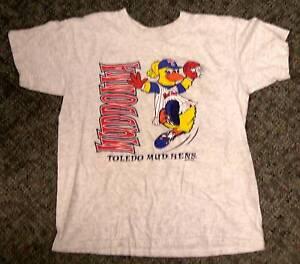 Toledo Mud Hens Kids Girls T Shirt Youth Large Large Muddonna Mascot Baseball
