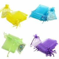 100Pcs Mini Sheer Drawstring Organza Bags Wedding Party Gift Candy Jewelry Pouch