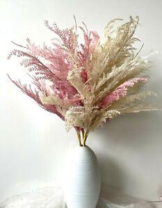 DRIED FLOWERS PAMPAS GRASS DUSY PINK CREAM AUSTRALIAN NATIVE FLOWER ARTIFICIAL
