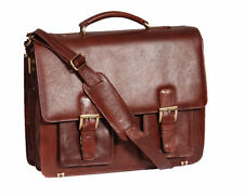Leather Hard Laptop Briefcases with Partitions