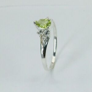 Size 6 - 7 - 8 - 8.5 - 9 - 9.5 - Green PERIDOT Ring - 925 STERLING SILVER #40