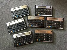 lot de 7 Calculatrice Hewlett Packard 5 HP-12C & 2 HP-11C  Calculator for parts
