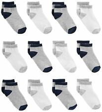 Simple Joys by Carter's Baby Boys' Toddler 12-Pack Sock, Gray, White, Size 4T/5T