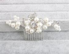 cristal peigne à CHEVEUX STRASS MARIAGE COIFFE perles Nuptial accessoires