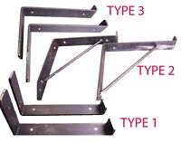 Rustic Shelf Brackets Scaffold Board Heavy Duty 225mm Industrial Steel Metal