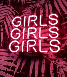 GIRLS GIRLS GIRLS Party Store Neon Sign uk Man Cave 10'' x10''