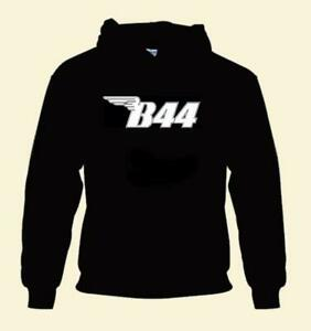 B44 HOODIE PULL OVER WINGED B 44 BSA MOTORBIKE BLUE BLACK RED YELLOW WHITE BIKE