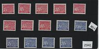 Mint stamp set #2941 / Postage due / Full Third Reich series / 1940s MH stamps