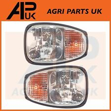 PAIR JCB Loadall Loader Teleporter Front Headlights Headlamps Head Light Lamp