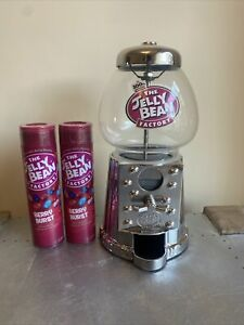 The Jelly Bean Factory Dispenser / machine Coin Operated With 2x 100g Man Cave