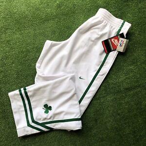 New Vintage Nike Authentic Warm Up Snap Tearaway Pants White Boston Celtics NBA