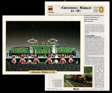 Fiche Locomotive Crocodole Marklin en 0 Chemin de Fer Train 1933 Railway Card