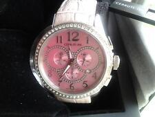Reloj De Pulsera Pink CERRUTI 1881 Cronógrafo De Dama Hecho en Suiza (nuevo En Caja)