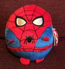 "Spiderman TY Beanie Ballz Marvel 5"" Toy Ball With Tag"