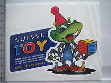 Aufkleber Sticker Toy Suisse - Messe für Spiel und Hobby - Bern (6390)