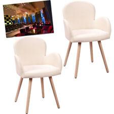 2x Dining Chair Sponge Leisure Fabric Chair Armchair Back Retro Home Restaurants
