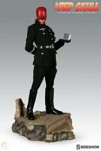 SIDESHOW COLLECTIBLES RED SKULL EXCLUSIVE PREMIUM FORMAT STATUE limited 500