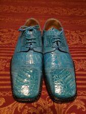 David Eden Crocodile Ostrich Dress Shoes Size 9.5