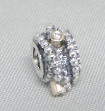 Authentic Pandora Entangled Beauty Diamond Charm/Bead 14K Gold Silver 790277D