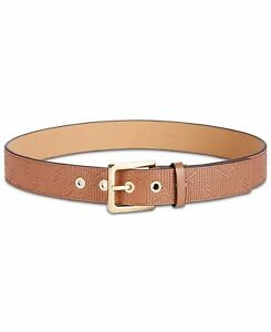 Michael Kors Women's Deco Quilted Leather Belt