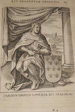 GRAVURE BELGIQUE CAROLUS SIMPLEX LOTH BRABANT VEEN COLLAERT 1623 OLD PRINT R979