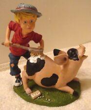 "Calabar Creations Yesterday's Friends ""Scrub a Swine"" Figurine 1993 Pete Apsit"