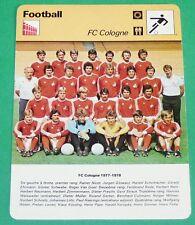 FOOTBALL BUNDESLIGA FUSSBALL 1. FC KÖLN 1977-1978 COLOGNE DEUTSCHLAND