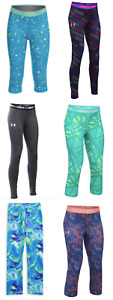 New Under Armour Girls Capris Leggings Size 6, 6x, Small, Medium, Large, and XL