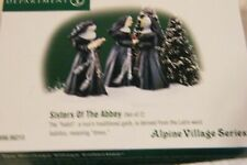 Dept 56 Alpine Village Accessories Sisters Of The Abbey +Oh Brother Retired Htf