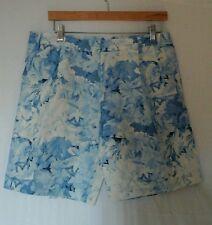 Tibi blue shorts sz 8 nwot silk, linen blend, floral excellent condition!