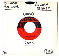 "Soul/r&b. LAVERN BAKER. si élevé si bas/si tu m'aimes. U.S. ORIG 7"".G+"