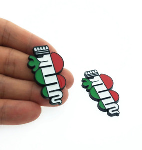 2pcs Alfa Romeo Black Red Green Side Fender Badges Emblems Stickers 156 159 166
