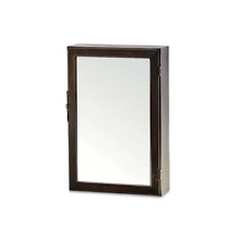 Ari Rust Wall Hung Cabinet With Mirror Large by Nkuku