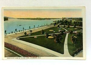 La Crosse Wisconsin Birds Eye View Levee Park Vintage Postcard
