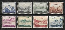 SWITZERLAND 1941 Mint NH Airmail Complete Set of 8 Michel #387-394 CV €90 VF
