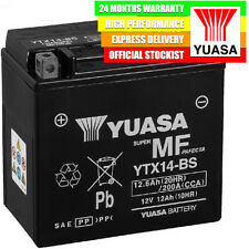 Genuine Yuasa YTX14-BS High Performance AGM Motorcycle Battery Combi-Pack