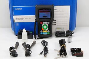 Olympus Panametrics 38DL Plus Thickness Gauge Ultrasonic W/ 2 Transducers