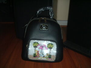 LOUNGEFLY DISNEY TRES CABALLEROS BEACH MINI BACKPACK~ WITH TAGS~ BRAND NEW~