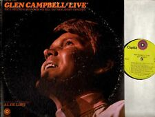 GLEN CAMPBELL live (usa 1969) DOUBLE LP EX/VG STBO 268 country gatefold capitol