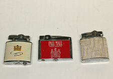 THREE VINTAGE BRANDED CIGARETTE LIGHTERS, Pall MALL, KENT and an one unmarked