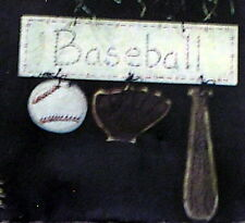 NEW unfinished wood BASEBALL SIGN craft Tole Painting Pattern & Instructions