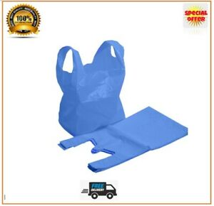 Vest Carrier Bags Blue Bags Plastic Strong Shops Supermarkets Large and XL Jumbo