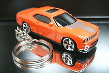 Dark Orange 2009 Dodge Challenger SRT8 Key Chain Ring