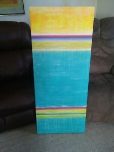 043 Original Artist Artwork Abstract Large Piece 48x20 Sober