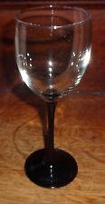 "France Cristal D'Arques Durand Onyx Black 2 Stems Wine Viva Domino? 7-3/4"""