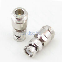 BNC male plug to N female jack Straight RF Coaxial Connector Adapter