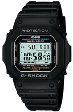 G-Shock Retro Classic Solar Power Digital Black Resin G5600E-1. Stand Out.